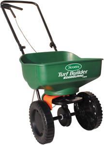 Broadcast Fertilizer Spreader Grass Seed Salt Walk Behind Drop Seeder Tractor