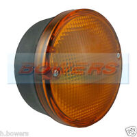 12V/24V UNIVERSAL REAR ROUND HAMBURGER AMBER INDICATOR LAMP LIGHT KITCAR/TRAILER