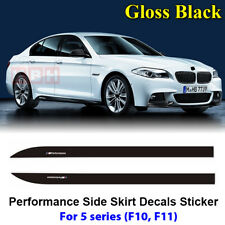 Fits BMW F10 F11 5 Series M Performance Side Skirt Decal Stickers GLOSS BLACK