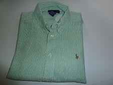 ❤️ Ralph Lauren ❤️ Sehr schönes, gestreiftes Hemd Weiß/Grün ❤️ Gr. L 16-18 176