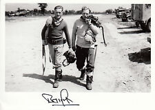 WWII WW2 RAF Ace Battle of Britain BAMBERGER DFC signed photo flying gear
