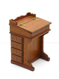Don Cnossen Davenport Desk - Artisan Dollhouse Miniature
