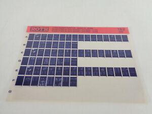 Microfiche Catalogue des Pièces Roth Toro Tracteurs Modèle 57360 & 57400 03/1969