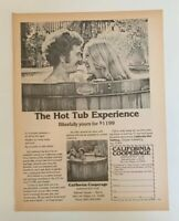 1977 California Cooperage Redwood Hot Tub Print Ad The Hot Tub Experience