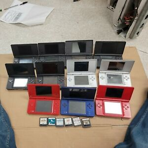 JOB LOT OF 11 x MIXED NINTENDO DS LITE /DS CONSOLES. 100% UNTESTED.