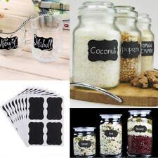 36pcs Chalkboard Blackboard Chalk Board Stickers Craft Kitchen Jar Labels DIY DI