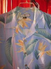 TOMMY BAHAMA HAWAIIAN SHIRT WILD FLOWERS CAMP CASUAL!SIZE M!100%SILK! !