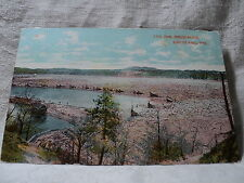 EAU CLAIRE WI Wisconsin Lumber Log Jam in Dells Pond Postcard