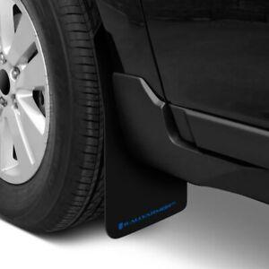 Rally Armor Basic UNIVERSAL Black Mud Flaps w/ Blue Logo Lettering Set of 4 New