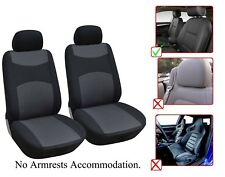2 Front Bucket Fabric Car Seat Cover Compatible For Toyota - M1410 Black