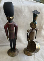 Vintage Sarried Ltd Tin Soldier & Drummer Made In Mexico Folk Art