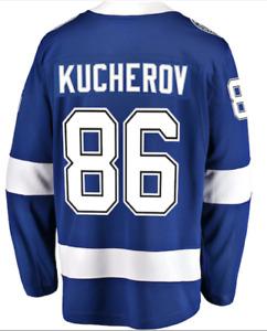 C152 Mens XL NHL Tampa Bay Lightning Breakaway Player Jersey Kucherov #86
