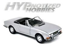 NOREV 1:18 1971 PEUGEOT 504 COUPE DIE-CAST SILVER/GREY 184777