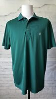 IZOD Men's XL Short Sleeve Polo Shirt  Green Plaid Squares Golf