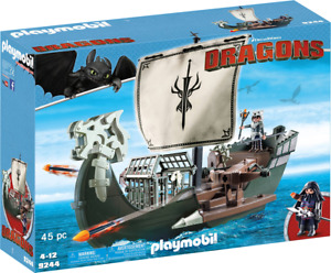 Playmobil -  How to Train Your Dragon  Drago's Ship PMB9244 ** Retired Rare **