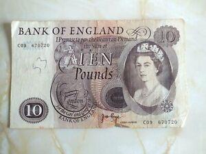 Old £10 Ten Pound Note