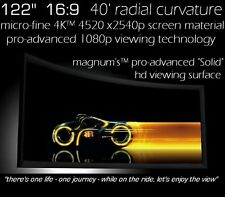 """122"""" 16:9 EPSON 5040 PRO-CURVE 4K HOME THEATER PROJECTION FIXED PROJECTOR SCREEN"""