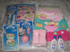 Pink Baby Blanket Booties Bib Pacifier Holders Nasal Aspirator Wash NEW!