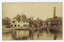 SANDFORD ON THAMES The Kings Arms Hotel - Antique Albumen Photograph c1890