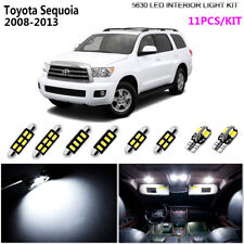 11Pcs LED Super White 6K Interior Light Kit Package Fit 2008-2013 Toyota Sequoia