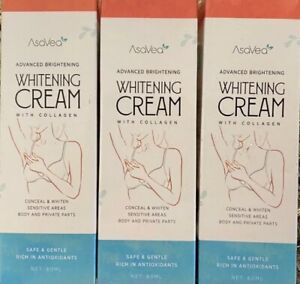 3-Pack Asavea Advanced Whitening Cream Anal/Vaginal Intimate Bleaching Neck Body