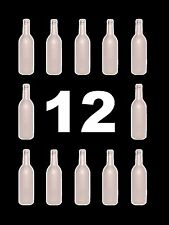 WINE BOTTLES 12 WHITE FROST BORDEAUX BRAND NEW CASE OF 12 750ml FROZEN FROSTED