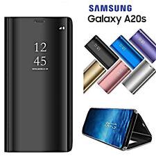 COVER per Samsung Galaxy A20s FLIP CUSTODIA ORIGINALE MIRROR Case Clear View
