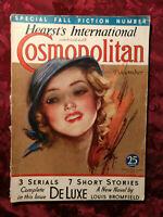 COSMOPOLITAN December 1932 Louis Bromfield S. S. Van Dine W. Somerset Maugham