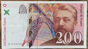 Billet de 200 francs Gustave EIFFEL 1996 FRANCE K019449649