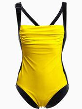 Bauchweg Badeanzug gelb schwarz 34 D  Shape mit Power-Mesh-System NP 70€