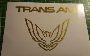 ****Trans Am decal set stickers eagle Pontiac Firebird****CAST VINYL 10/12YR