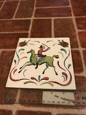 Wheeling Cushion Yankee Doodle Colonial Style Painted Decorative Tile FREE SHIP