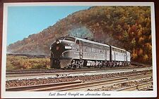 Vintage Postcard - 1950s  East Bound Freight on Horseshow Curve, Altoona PA