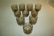 "10 Mid Century Modern Vintage Charcoal On The Rocks Glasses 3"" x 3"" Bar Juice"