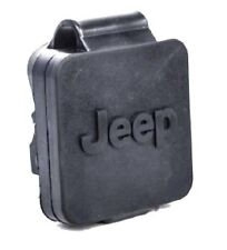 "00-16 Jeep New Trailer Hitch Receiver Plug 2"" with Jeep Logo Black Mopar OEM"