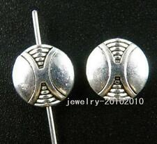 70pcs Tibetan Silver Nice Flat Spacer Beads 10x3.5mm zn29097