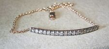 Ladies 14K Rose Gold 1.25 CTTW Champagne Diamond Tennis 7 Inch Bracelet