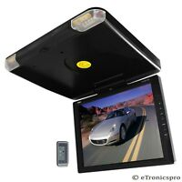 """PYLE 14"""" 12V CAR ROOF MOUNT DROPDOWN DUAL VIDEO MONITOR"""