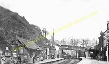 New Mills Central Railway Station Photo. Bugsworth - Hazel Grove. Midland. (1)
