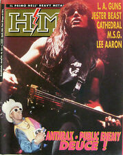 HM 121 1992 Anthrax Public Enemy Lee Aaron LA Guns Jester Beast Cathedral MSG