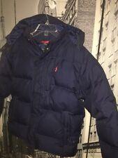Ralph Lauren Polo Boy's Navy Blue Puffer Down Hooded Winter Coat Jacket Sz 6