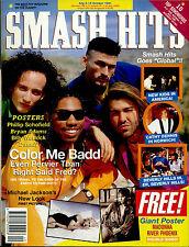 SMASH HITS 1991 BEVERLY HILLS 90210 MADONNA BROS DANNII MINOGUE PHILIP SCHOFIELD