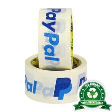"6 x Rouleaux de 100% recyclable 2"" (50 mm) Paypal Blanc Papier kraft Eco Emballage Ruban"