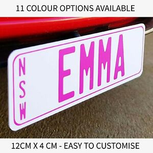 2 x KIDS NOVELTY NUMBER PLATES CUSTOM PERSONALISED PERFECT FOR KIDS RIDE CAR