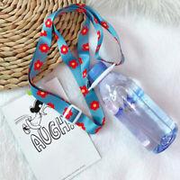 Portable Water Bottle Kettle Lanyard Shoulder Strap Cup Long BuckleHanging R AB