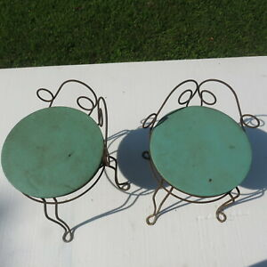 Vintage 1950s Classical  Womans Vanity Power room  make up chairs
