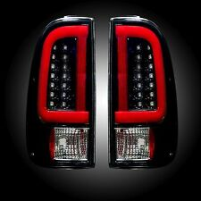 RECON 264293BK Ford Superduty 08-16 F250HD 350 450 550 Smoked Tail Lights LED