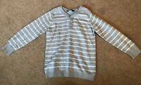 Boys George Blue + White Striped Long Sleeve Jumper Size 3-4 Years