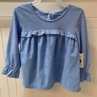 NWT Toddler Girls' George Babydoll Ruffle Long Sleeve Top - Size 3T