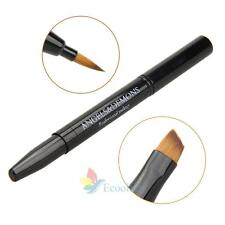 Double-ended Portable Smooth Travel Lip Brush Makeup Cosmetic Lipstick Gloss A